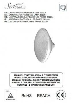 Logo Notice - Ampoule PAR56 SEAMAID - 30 LED W