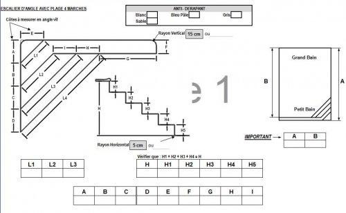 forfait escalier liner plage forme a distripool. Black Bedroom Furniture Sets. Home Design Ideas