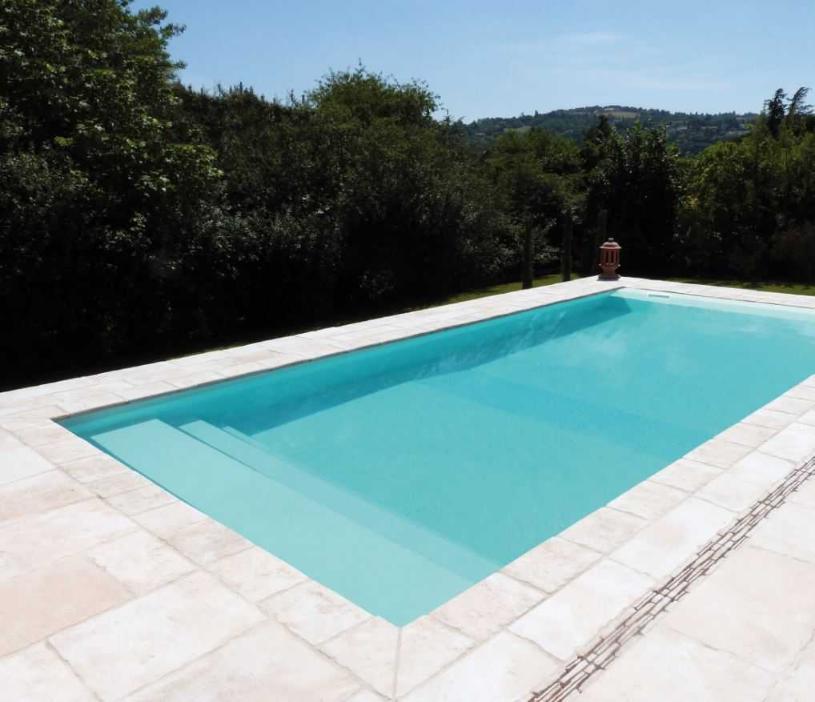 liner piscine vert antille