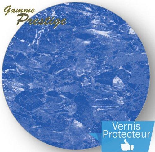 Liner piscine 75 100 me imprim 2015 marbr bleu vernis Liner sur mesure