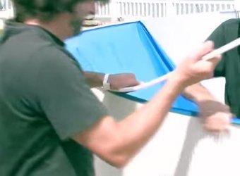 pose liner piscine hors sol 3