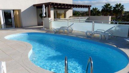liner piscine arme bleu clair