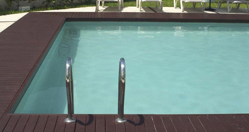 liner piscine arme vert caraibe