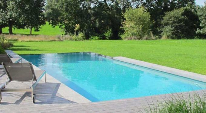 liner piscine arme gris clair