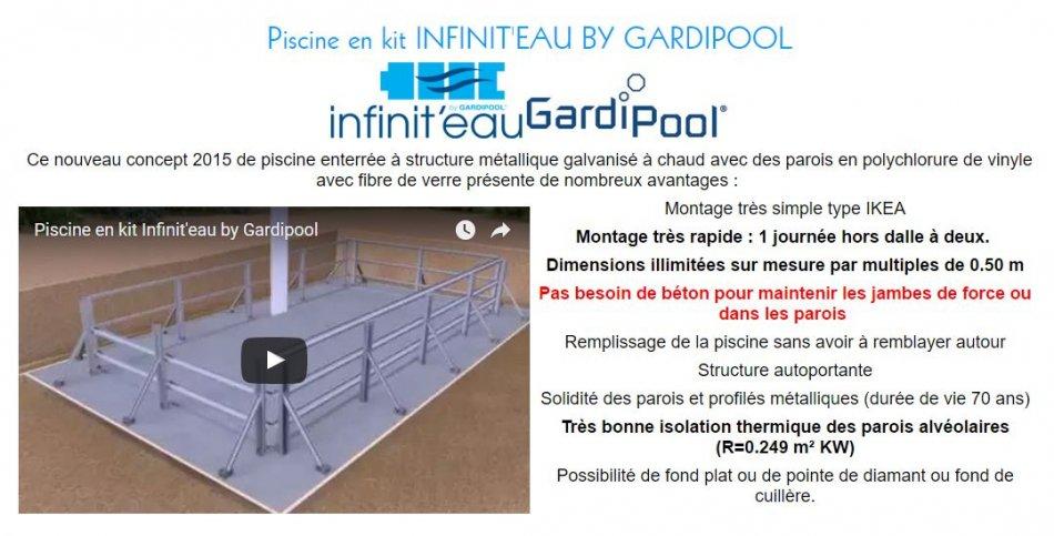 technique mini piscine infiniteau