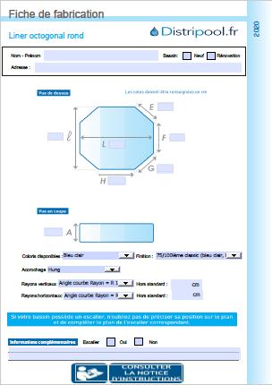 liner octogonale rond