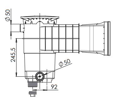 dimensions skimmer Weltico A-400 liner 2