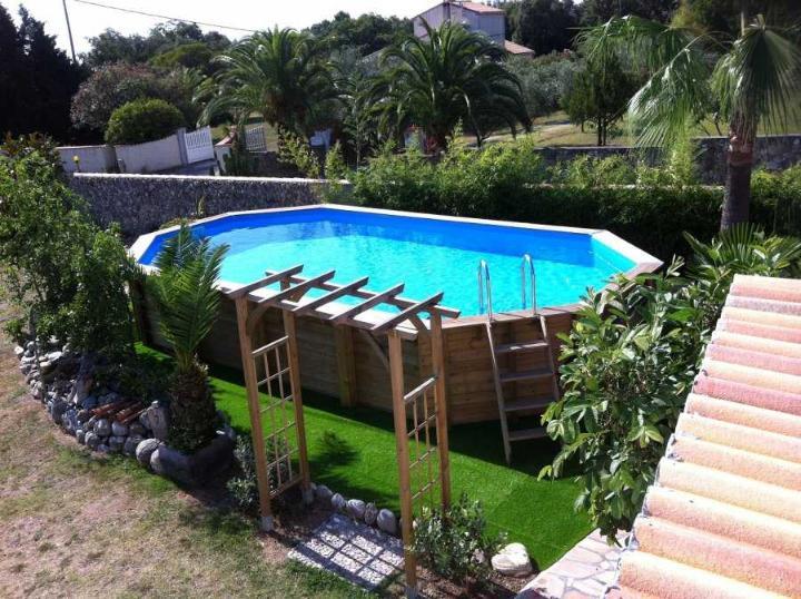piscine bois ocea ubbink 470 x 860 x 130 cm