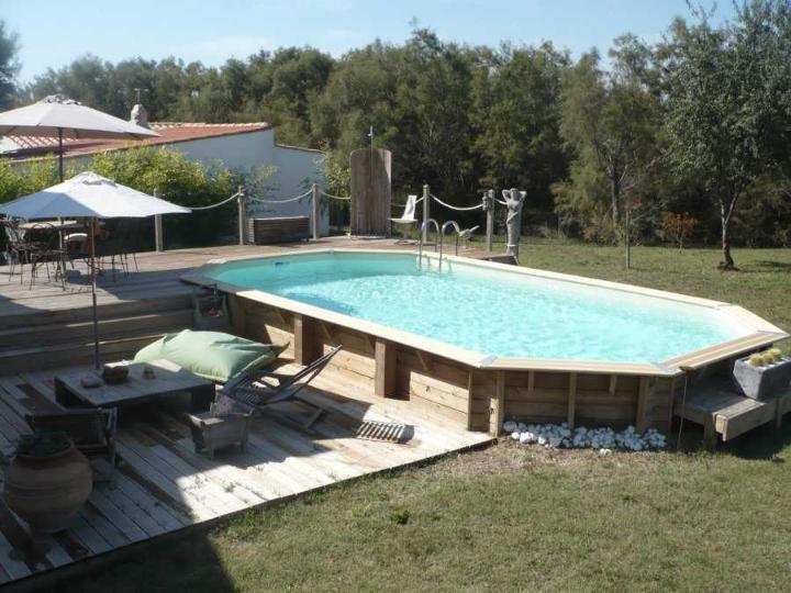 piscine bois ocea ubbink 470 x 860 x 130 cm photo