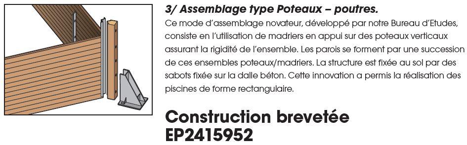 structure par emboitement poutre ubbink
