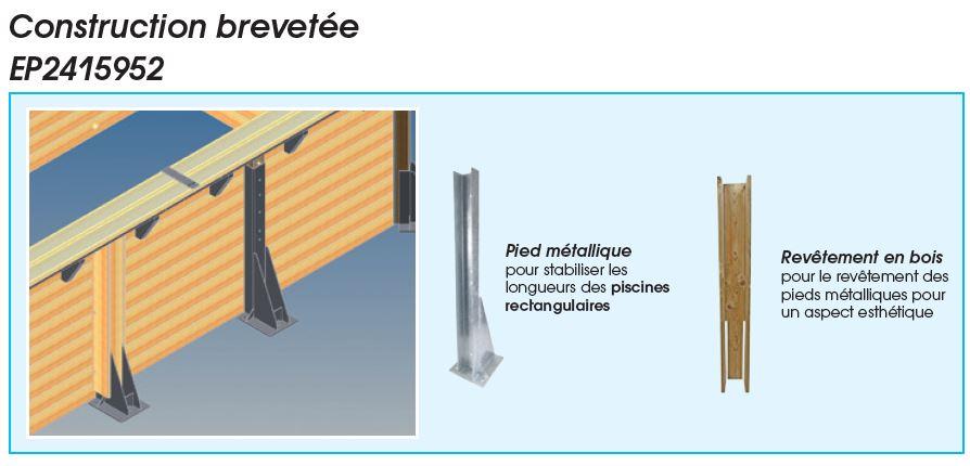 structure par renforce sabot + pieds