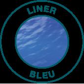 liner bleu pistoche