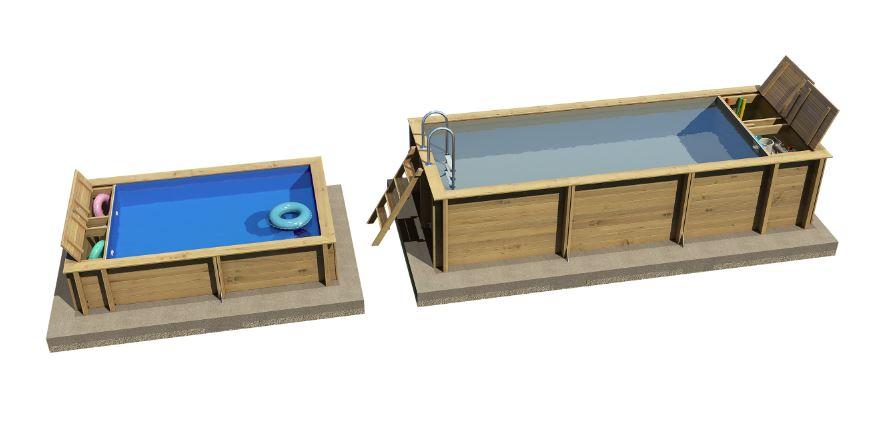 piscine bois BWT Pool-n Box JUNIOR 2