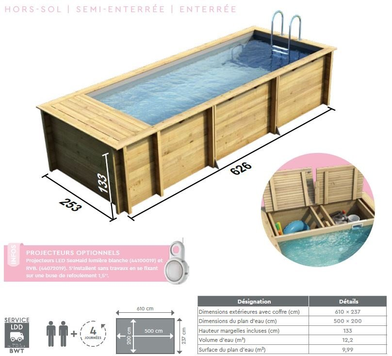 dimensions pisicne bois pool-N-box