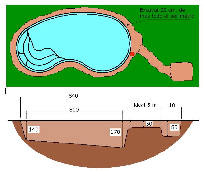 piscine-coque-graf-75-local technique-terrassement