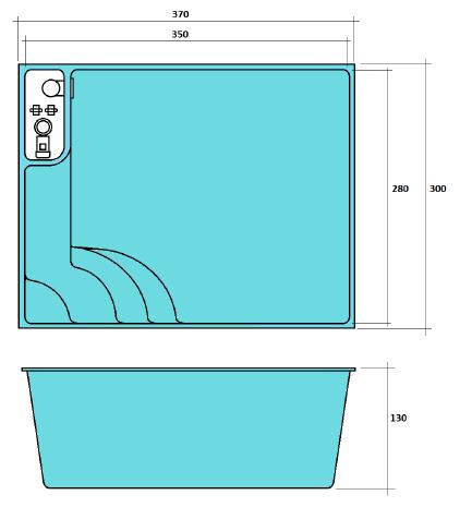 plan mini piscine coque MONTGO 2