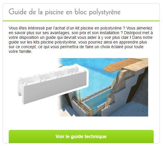 guide polystyrene piscine