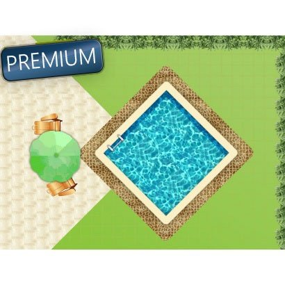 piscine en kit carre Premium