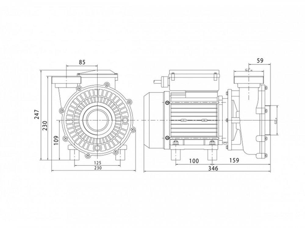 dimensions pompe solubloc P25