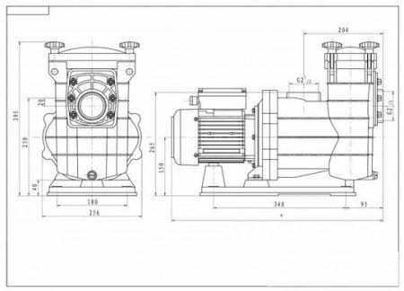 dimensions pompe RENOVO