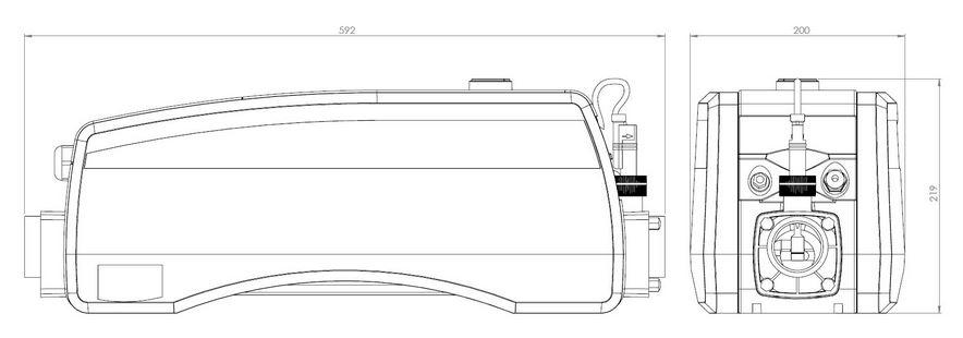 dimensions rechauffeur elecro optima compact