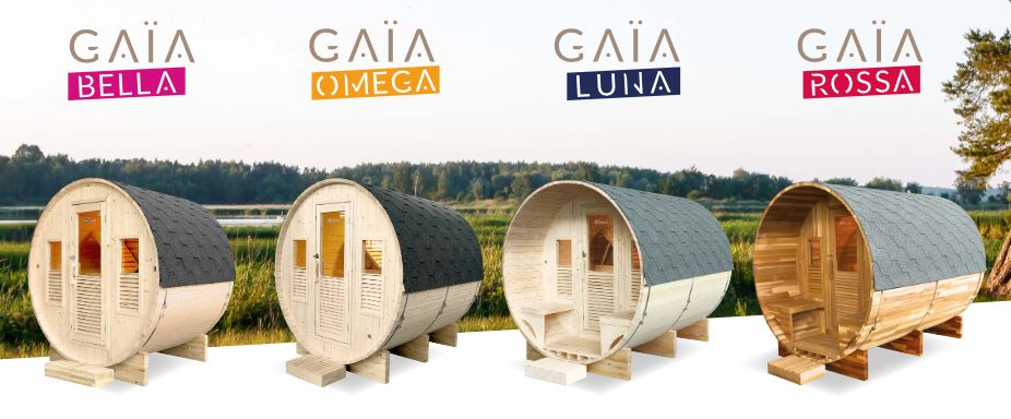 collection sauna GAIA tonneau rond 2
