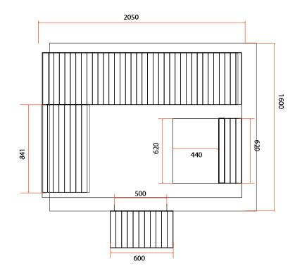 dimensions sauna BELLA