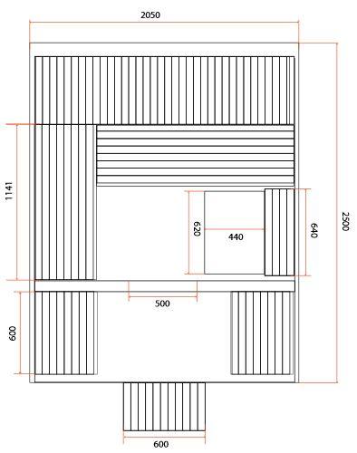 dimensions sauna LUNA