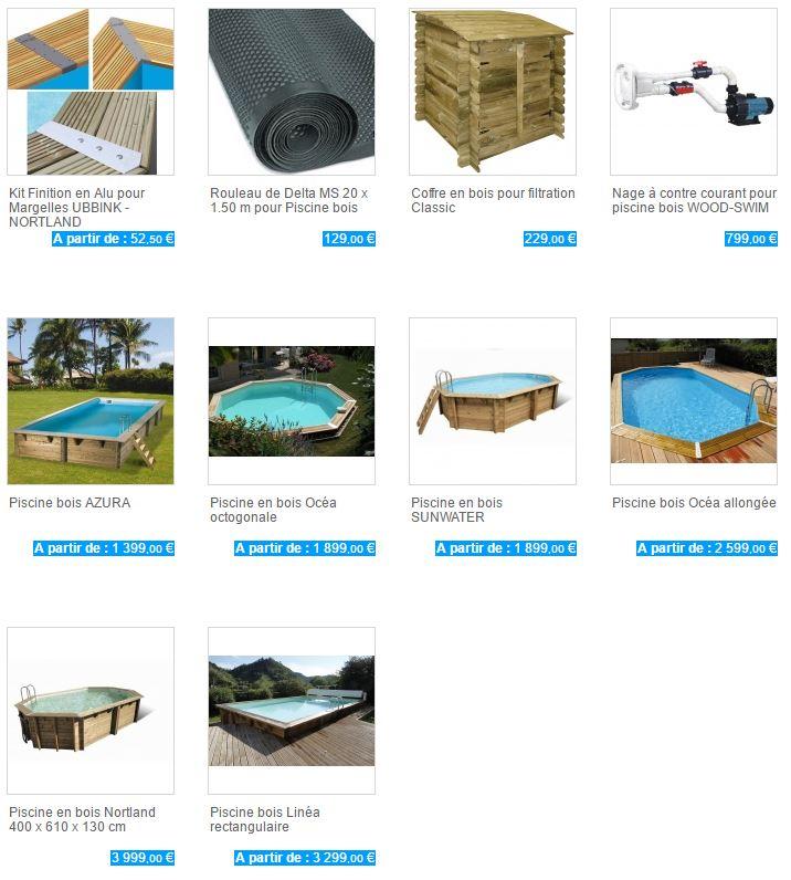 collection prix piscine bois ubbink